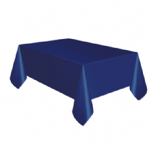 Navy Blue Table Cloth - Plastic 9ft Tablecover 1pc